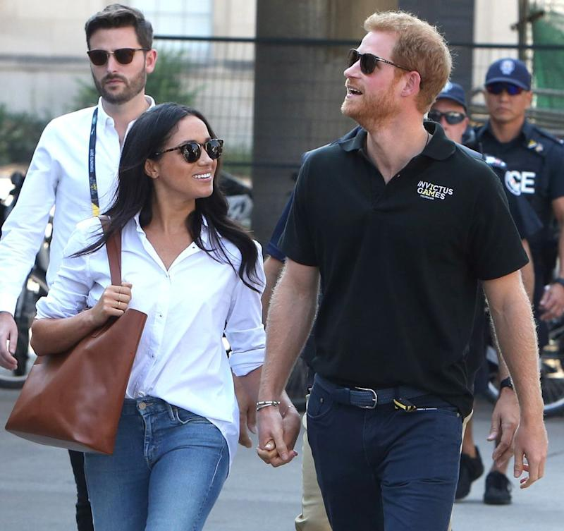 Meghan Markle and Prince Harry at the 2017 Invictus Games