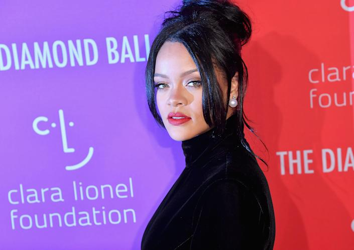 Barbadian singer/actress Rihanna arrives for Rihanna's 5th Annual Diamond Ball, 2019. (Photo by Angela Weiss / AFP)