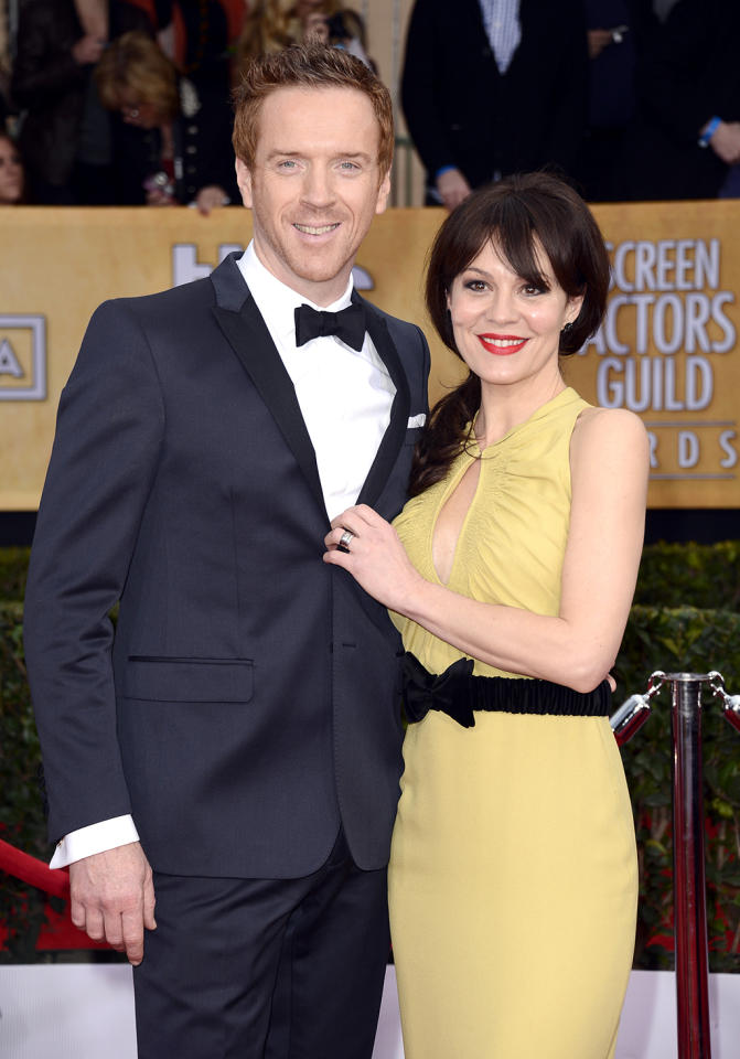 Damian Lewis (L) and Helen McCrory arrive at the 19th Annual Screen Actors Guild Awards at the Shrine Auditorium in Los Angeles, CA on January 27, 2013.