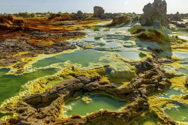 "<p>Despite the amazing sight, Netal said that seeing the pools came with a downside. ""The smell was horrible, and it was difficult to breath."" (Photo: Neta Dekel/Caters News) </p>"