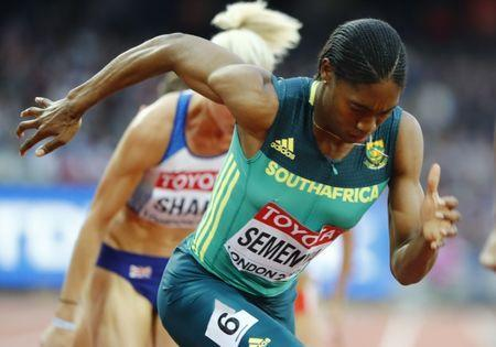 Athletics - World Athletics Championships – women's 800 metres semi-final – London Stadium, London, Britain – August 11, 2017 – Caster Semenya of South Africa competes. REUTERS/Lucy Nicholson