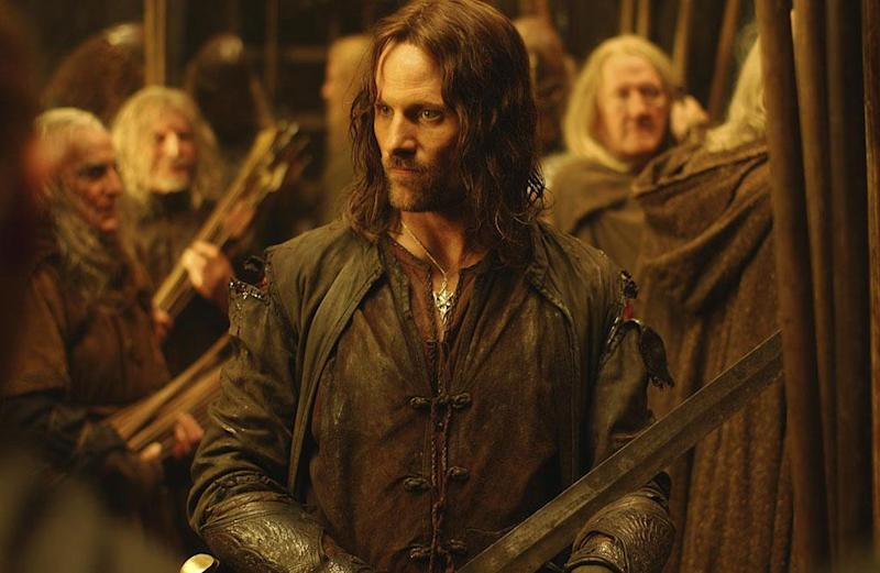Viggo Mortensen in Lord of the Rings The Two Towers