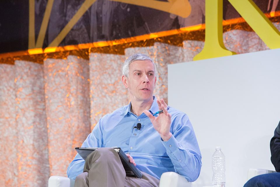 Arne Duncan, Managing Partner, Emerson Collective, Former U.S. Secretary Of Education, was among the advocates speaking at The Kennedy Forum National Summit On Mental Health Equity And Justice In Chicago at the Chicago Hilton and Tower Hotel on January 16, 2018 in Chicago, Illinois. (Jeff Schear/Getty Images for Kennedy Forum)