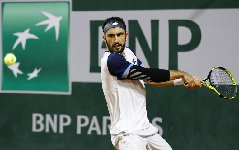 Lorenzo Giustino beat Corentin Moutet in the tournament's second ever longest match on Monday