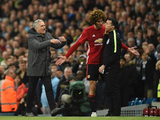 In the end, Fellaini's red may almost have done Mourinho a favour (Getty)