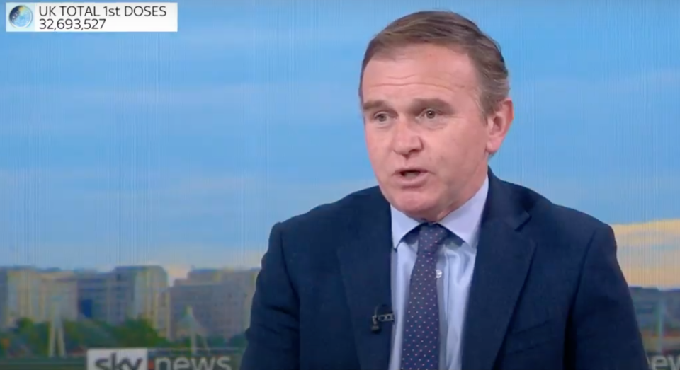 George Eustice talks to Sophy Ridge (Sky News)