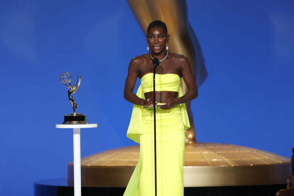 Michaela Coel at the 2021 Emmys - Credit: CBS