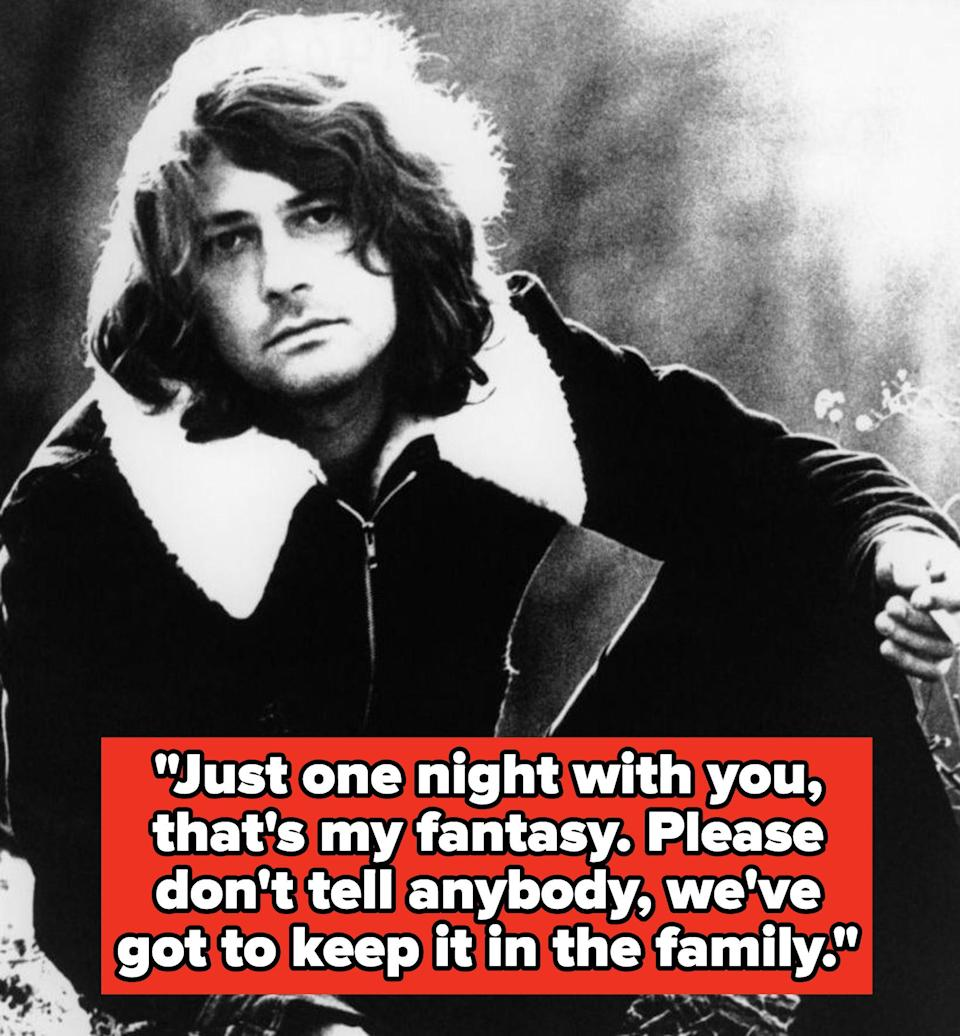 """Deodato lyrics:""""Just one night with you, that's my fantasy. Please don't tell anybody, we've got to keep it in the family"""""""