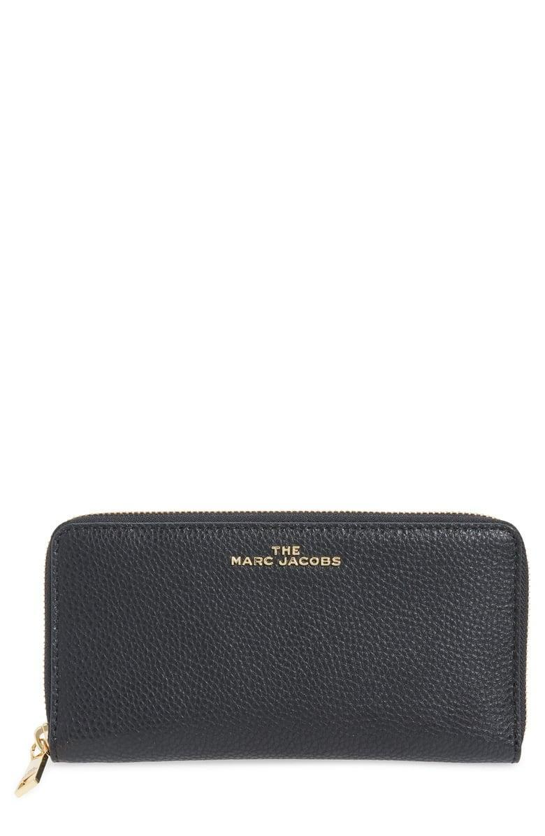 <p><span>The Marc Jacobs Vertical Zippy Leather Wallet</span> ($130, originally $225)</p>