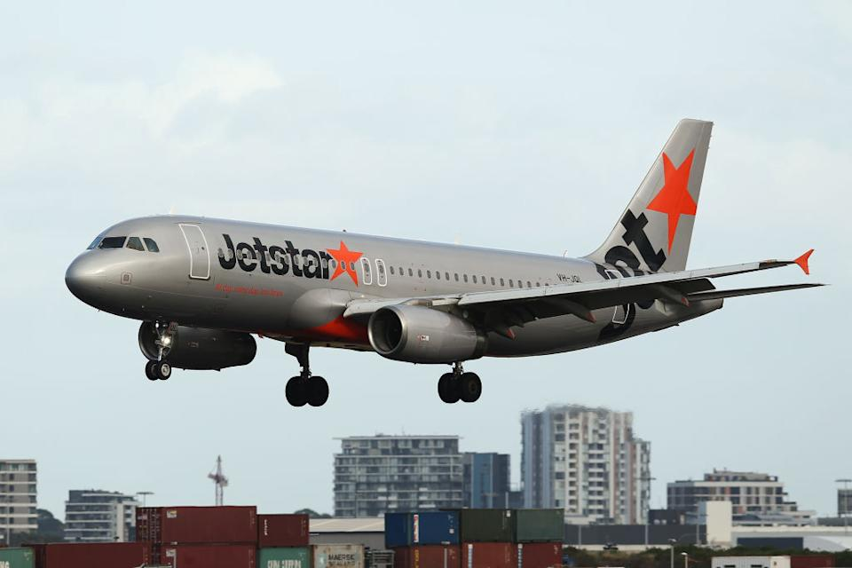 An Airbus SE A320-200 aircraft operated by Jetstar Airways.