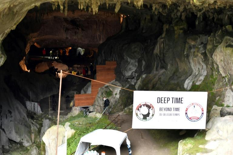 """The entrance to the Lombrives cavern outside Tarascon-sur-Ariege in southern France, site of the 40-day """"Deep Time"""" isolation experiment."""