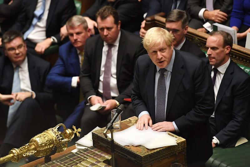 Prime Minister Boris Johnson in the Commons: UK PARLIAMENT/AFP via Getty Images