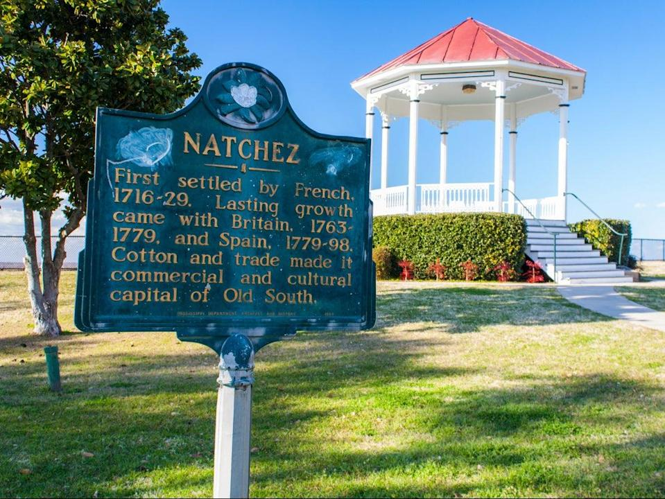 <p>Natchez, MS, EE.UU. - 6 de febrero de 2009: The Waterfront Gazebo en Natchez National Historic en el invierno de 2009.</p> (Getty Images)