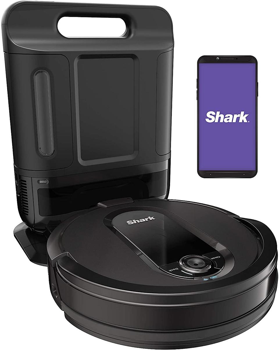 """<br><br><strong>Shark</strong> Shark IQ R101AE with Self-Empty Base, $, available at <a href=""""https://amzn.to/36KDNjr"""" rel=""""nofollow noopener"""" target=""""_blank"""" data-ylk=""""slk:Amazon"""" class=""""link rapid-noclick-resp"""">Amazon</a>"""