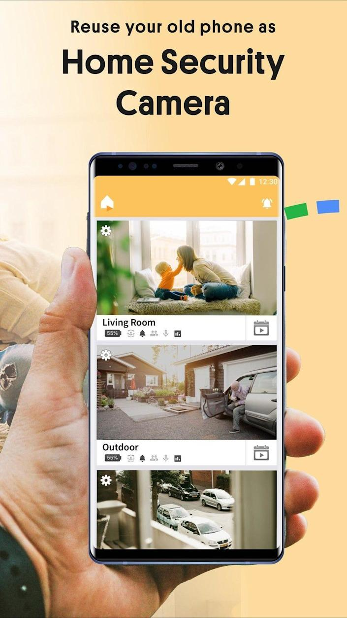 The Alfred Home Security Camera app lets you use your old smartphone to keep a watchful eye on your household and everyone in it.