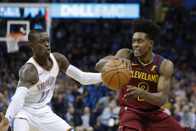 Collin Sexton is taking advantage of his opportunity, especially now that George Hill got traded. (AP Photo/Alonzo Adams)