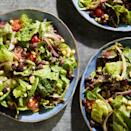 <p>A classic black bean salad is a must for picnics and potlucks. This vegan version gets its creaminess from blended avocado. Any mix of salad greens will work well, but try arugula if you want to give this hearty salad a peppery kick.</p>