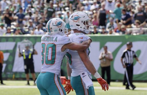 best website 4e6aa bf45f Gore, Dolphins top Darnold, mistake-prone Jets 20-12