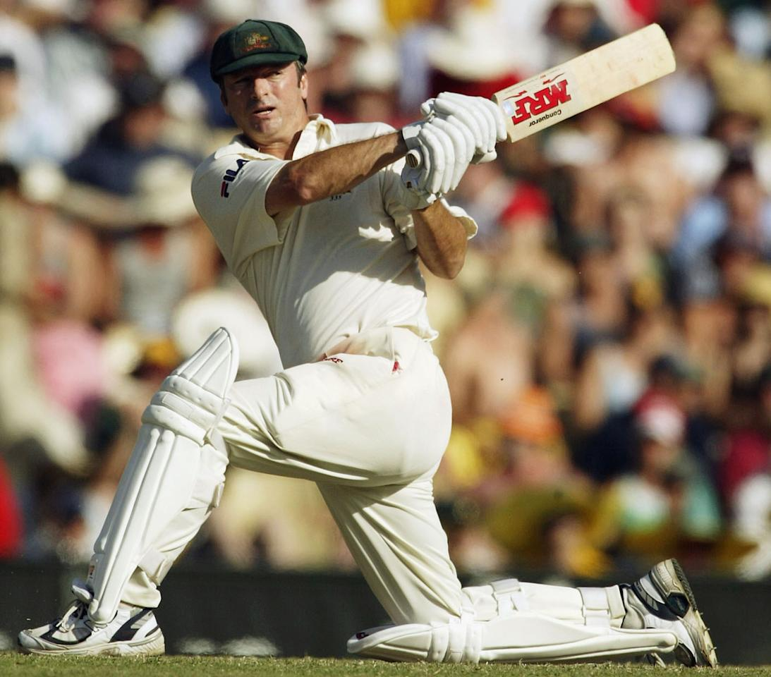 SYDNEY, AUSTRALIA - JANUARY 4:  Steve Waugh of Australia in action during day three of the 4th Test between Australia and India at the SCG on January 4, 2004 in Sydney, Australia. (Photo by Hamish Blair/Getty Images)