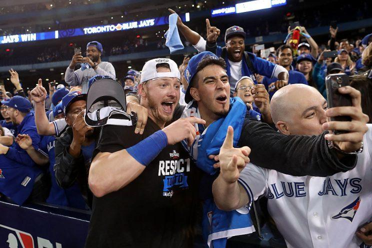 Josh Donaldson, fantasy first-rounder and man of the people. (Photo by Tom Szczerbowski/Getty Images)