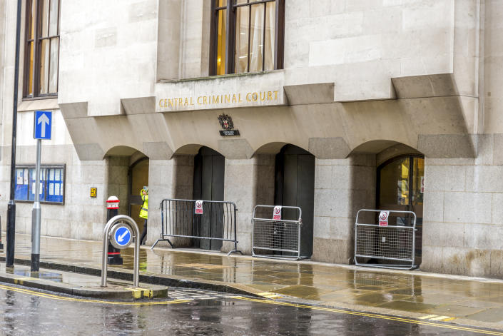 October 2017, London, United Kingdom: Entrance to historic Central Criminal Court (The Old Bailey)