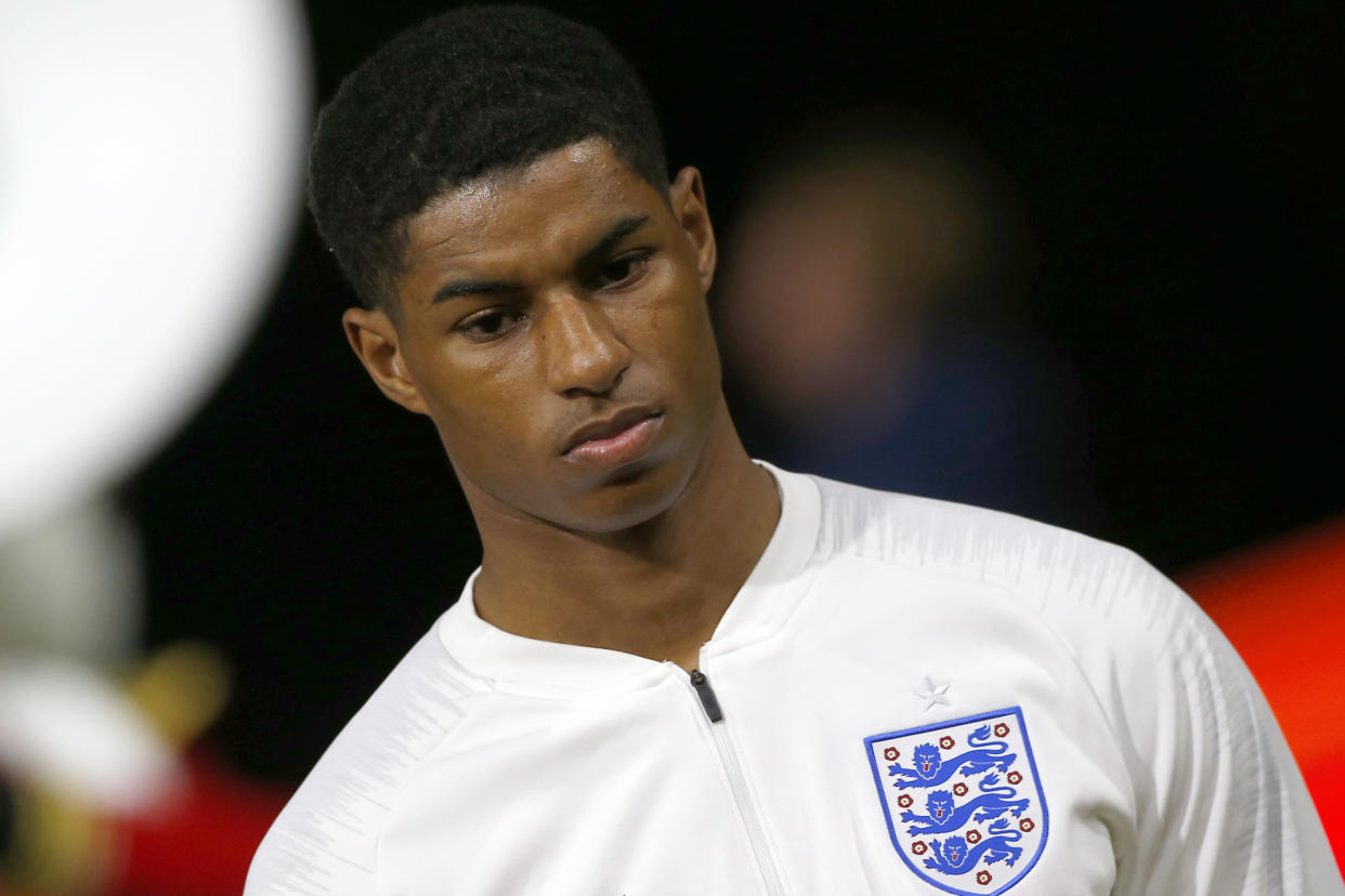 England's Marcus Rashford has been subjected to racial abuse since his penalty miss at the Euro 2020 final.