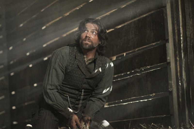 """In this image released by AMC, Anson Mount portrays Cullen Bohannon in the original series """"Hell On Wheels,"""" premiering - Sunday at 10 p.m. EST on AMC. (AP Photo/AMC, Chris Large)"""