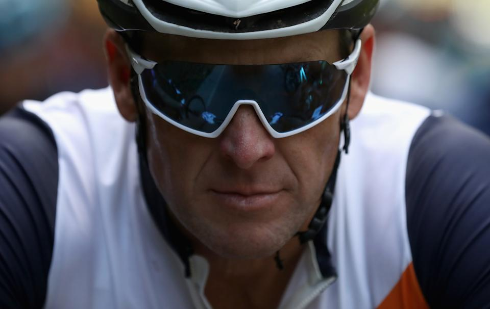"""Lance Armstrong seems ready to bare his soul in ESPN's upcoming two-part documentary """"LANCE."""" (Photo by Ezra Shaw/Getty Images)"""