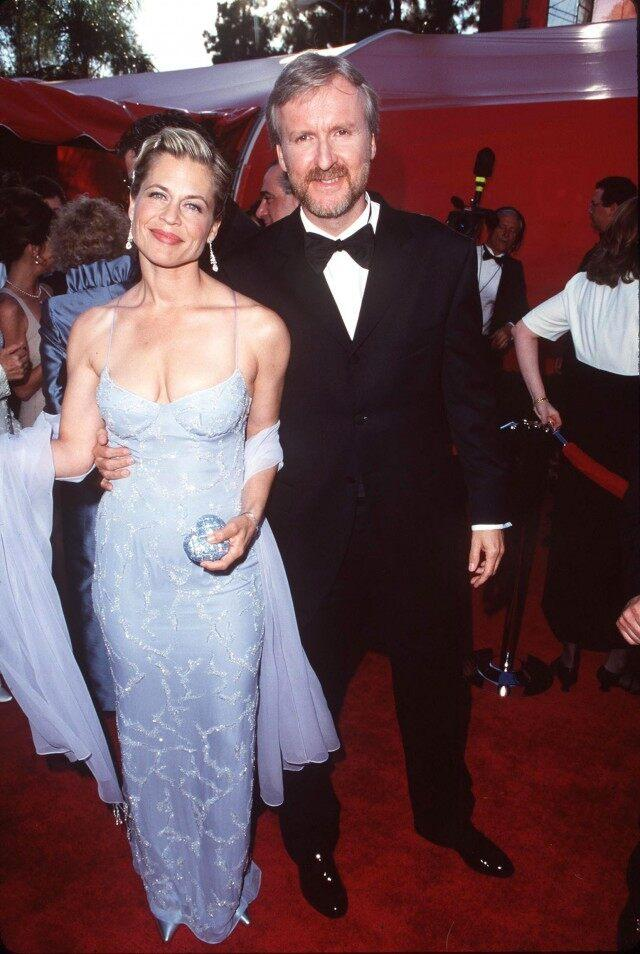 Linda Hamilton and James Cameron