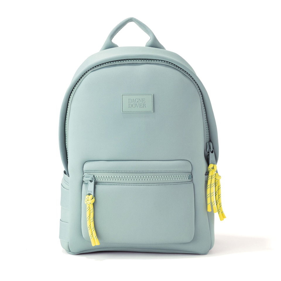 """<p><strong></strong></p><p>dagnedover.com</p><p><strong>$175.00</strong></p><p><a href=""""https://www.dagnedover.com/collections/the-dakota-backpack#SeaMist-Medium"""" target=""""_blank"""">Shop Now</a></p><p>Give your shoulder a break and pick something a little more ergonomic. This office-appropriate neoprene knapsack includes room for all of the essentials, plus space for a laptop, a change of clothes and shoes. </p>"""