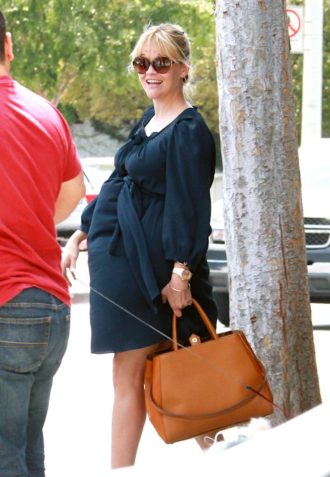 """<p class=""""MsoNormal""""><span style="""""""">Though Reese Witherspoon didn't confirm her pregnancy until recently, the rest of the world pretty much already knew her not-so-well-kept secret thanks to photographs taken of the 36-year-old over the last several months. The """"Water for Elephants"""" star is already mom to 12-year-old daughter Ava and 8-year-old son Deacon with ex-husband Ryan Phillippe, but didn't want to waste any time growing her family, this time with her new hubby, talent agent Jim Toth. The couple was married last April at Witherspoon's ranch in Ojai, California, and were expecting within the year. The actress is reported to be due later in the summer or early fall. </span></p>"""