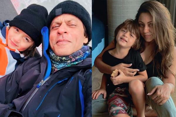 Shah Rukh Khan, Gauri Khan and AbRam Khan
