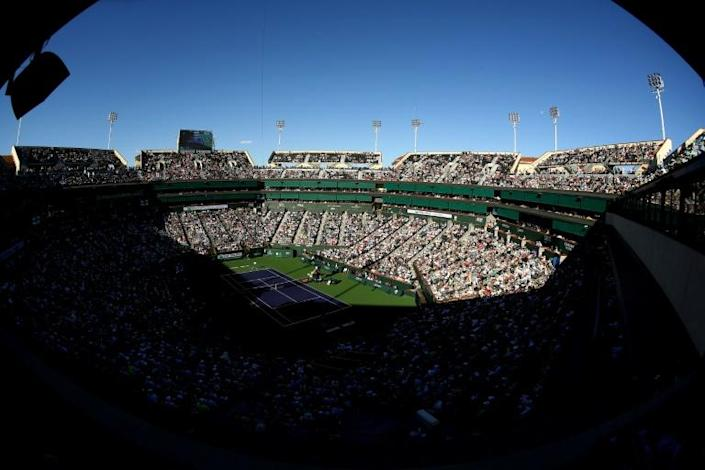 The prestigious ATP and WTA Indian Wells tournament was cancelled, the first major sports event in the US to be shelved because of the outbreak (AFP Photo/CLIVE BRUNSKILL)