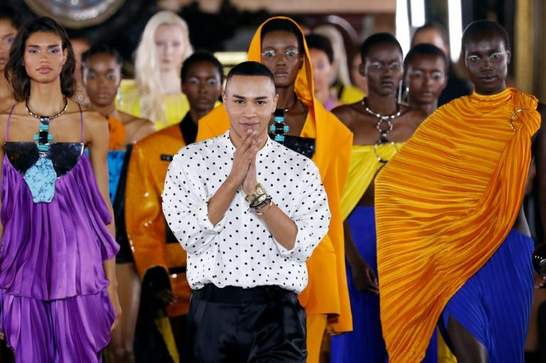 """""""Sorry, if people think there's still not a fight for (diversity), that's old-fashioned,"""" said Balmain designer Olivier Rousteing (AFP Photo/FRANCOIS GUILLOT)"""