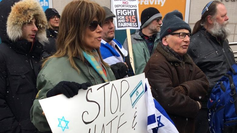 Students, Jewish community members rally against anti-Semitism