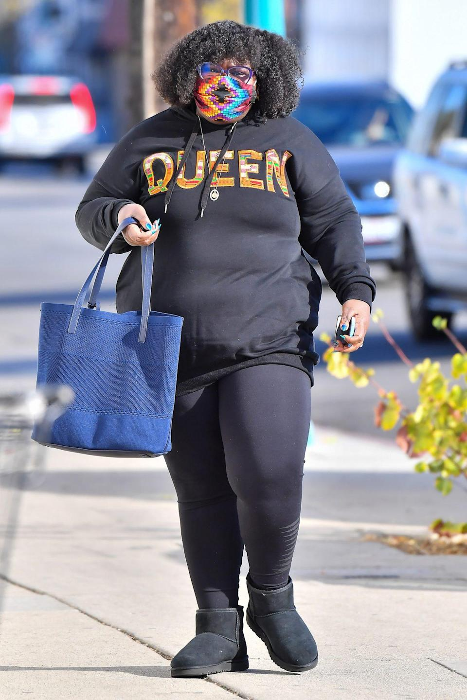 "<p>Gabourey Sidibe arrives at an L.A. recording studio looking like a ""QUEEN"" on Wednesday. </p>"