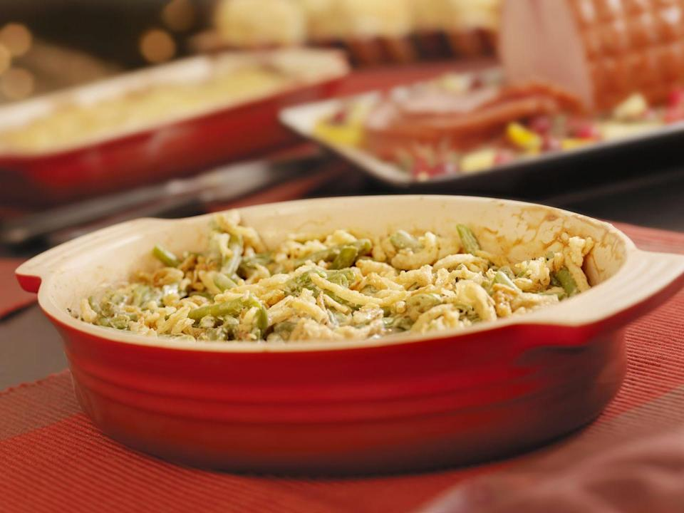 "<p>Though it may not get super cold in Georgia, there's still need for serious, soul-warming comfort food. Hence the ubiquity of green bean casseroles at Christmas. </p><p>Get the <a href=""https://www.delish.com/holiday-recipes/thanksgiving/a55340/easy-homemade-classic-green-bean-casserole-recipe/"" rel=""nofollow noopener"" target=""_blank"" data-ylk=""slk:recipe"" class=""link rapid-noclick-resp"">recipe</a>.</p>"