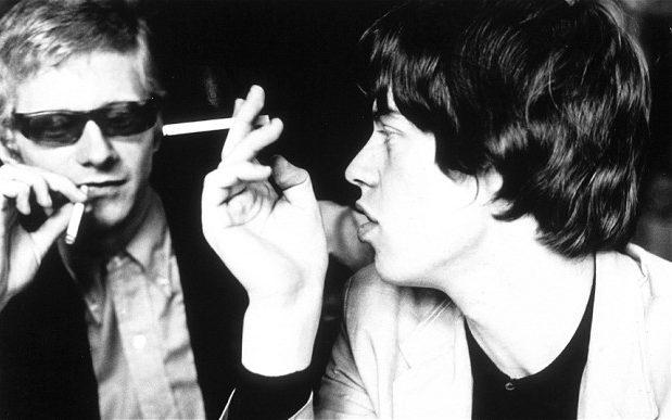 Andrew Loog Oldham with Jagger in 1964 - Getty Images