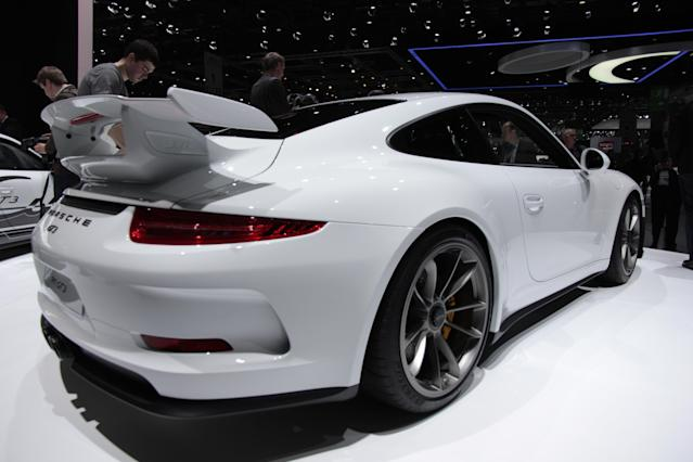 <strong>Porsche 911 GT3</strong>: The headline figures are 196mph and 0-62mph in only 3.5 seconds but it's the sublime handling that will make or break this latest GT3. (PA)