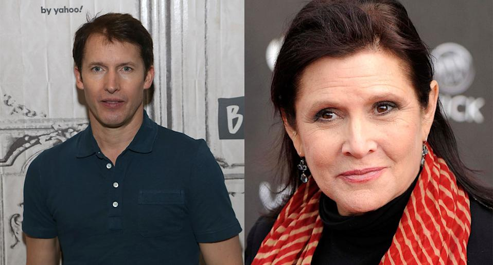 James Blunt enjoyed a friendship with Carrie Fisher. (Photo by Manny Carabel/Getty Images. AP Photo/Chris Pizzello, File)