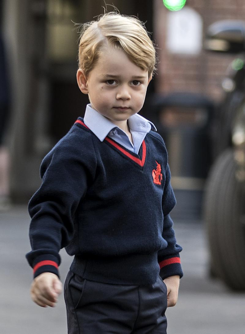Off to school he goes!  (RICHARD POHLE via Getty Images)