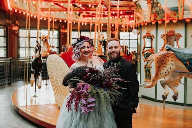 Teresa and Peter married at Bear Mountain Merry-Go-Round Pavilion. (The Ramsdens)