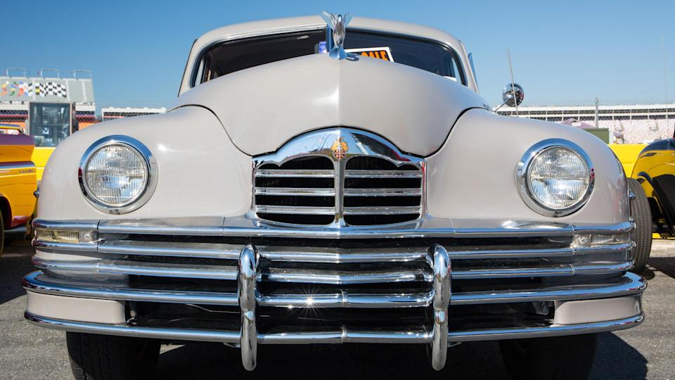CONCORD, NC - September 24, 2016: A 1948 Packard automobile on display at the Pennzoil AutoFair classic car show held at Charlotte Motor Speedway.