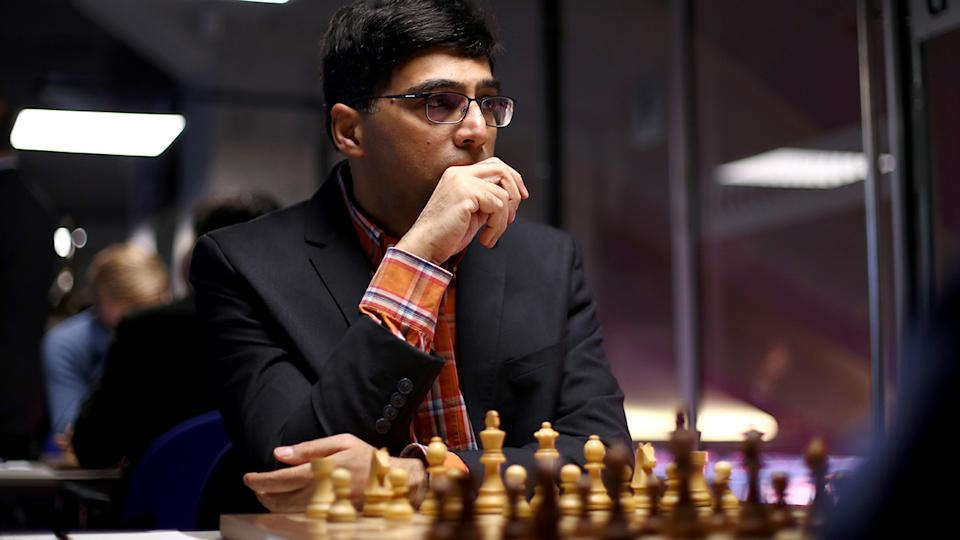 Viswanathan Anand played down the actions of Nikhil Kamath, who used 'compuyters' to defeat him in a recent charity match. (Photo by Dean Mouhtaropoulos/Getty Images)