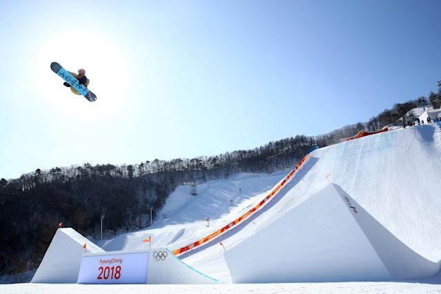 <p>Seppe Smits of Belgium competes during the Snowboard Men's Slopestyle Final on day two of the PyeongChang 2018 Winter Olympic Games at Phoenix Snow Park on February 11, 2018 in Pyeongchang-gun, South Korea. (Photo by Cameron Spencer/Getty Images) </p>