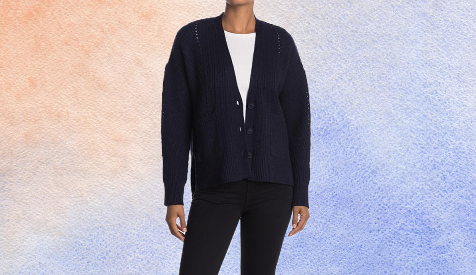 Bundle up in this cozy cardigan. (Photo: Nordstrom Rack)