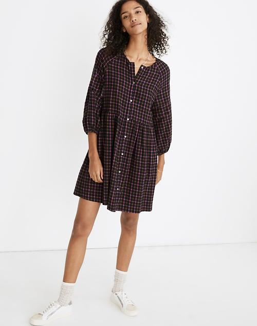 <p><span>Plaid Flannel Raglan Button-Front Shirtdress</span> ($75, originally $108 (plus extra 30% off with code GIGANTIC))</p>