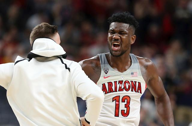 Deandre Ayton is peaking in March, and that should have Arizona's potential NCAA opponents terrified. (AP)