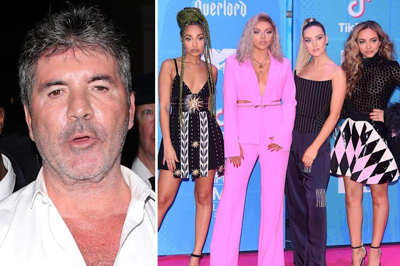 Moving on: Cowell has called time on his relationship with the girl group: Splash News