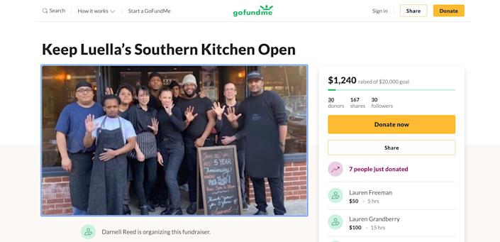 Darnell Reed has set up a GoFundMe to help keep his restaurant in business. (Photo: HuffPost)